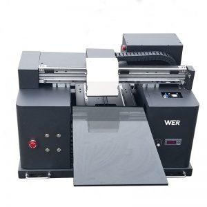 2018 UV llevó la impresora de cama plana a4 dtg t shirt logo impresora en venta WER-E1080T