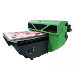 A2 tamaño digital DTG camiseta impresora plana cama 8 color DX5 cabezal de impresora WER-D4880T