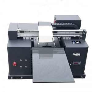 Impresora de cama plana UV de tamaño A3 para impresión de metal de aluminio WER-E1080UV