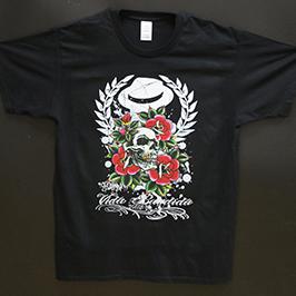 Ejemplo de impresión de camiseta negra por la impresora digital de textiles A1 WER-EP6090T
