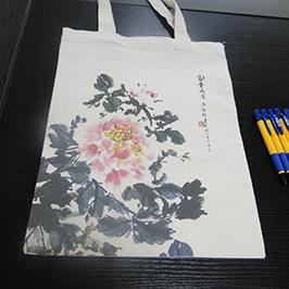 Muestra de impresión de la bolsa de lona por la impresora A2 camiseta WER-D4880T