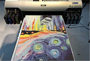 Muestra de lienzo de A2 UV Printer WER-EH4880UV