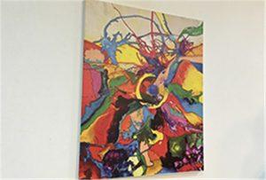 Muestra de lienzo impresa por la impresora uv tamaño WER-EP6090UV de A1