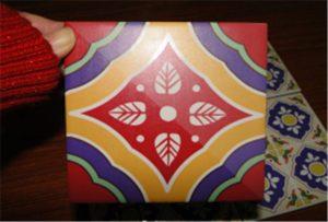 Muestra de azulejos de cerámica impresa en la impresora A2 uv WER-D4880UV