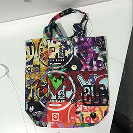 Muestra de impresión de bolsas no tejidas de la impresora textil digital A1 WER-EP6090T