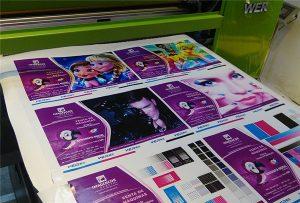 Impresión de muestra de vinilo de WER-EP6090UV impresora