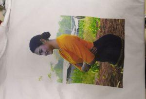 Muestra de impresión de camisetas para el cliente Burma de la impresora WER-EP6090T