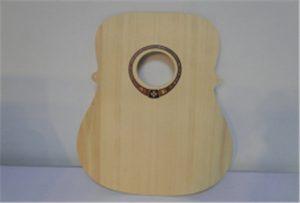 Muestra de guitarra de madera de la impresora uv tamaño A2 WER-DD4290UV